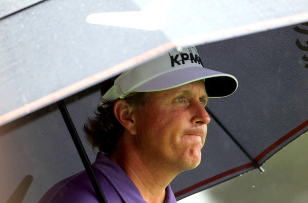 Phil Mickelson's spirits were dampened by another rough outing at the Masters this year.