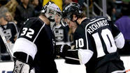A year ago Monday the Kings took a 3-0 playoff series lead over the top-seeded Vancouver Canucks, as goaltender Jonathan Quick made 41 saves and Dustin Brown scored on a rebound in a 1-0 victory at Staples Center. The Kings lost the next game but finished the series in five, the start of the dominance they would display during their march to the Stanley Cup.