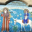 There's been a Christian community in Egypt since the time of St. Mark. In Coptic Christian churches, mosaics remind all that Mary and Joseph fled with their baby to Egypt to escape King Herod¿s decree to kill all newborn boys.