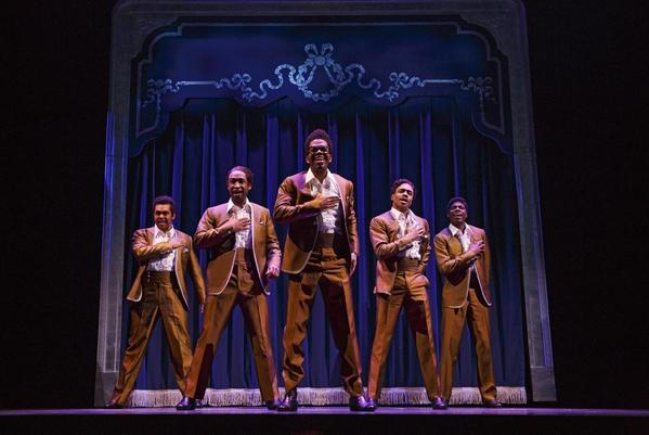 """A scene from """"Motown: The Musical"""" at the Lunt-Fontanne Theatre in New York."""
