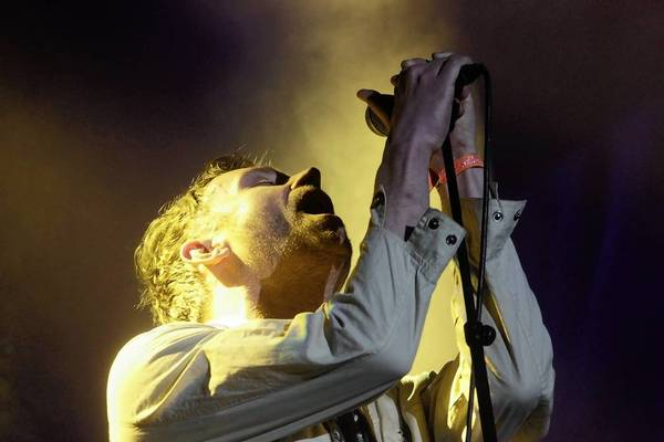 Damon Albarn of the band Blur performs at the 2013 Coachella Valley Music and Arts Festival.