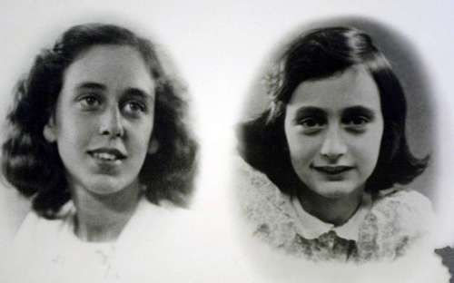 Anne Frank was a typical teenager of the era, enjoying magazines with photos of current celebrities. Photos circa 1942 show Jacqueline Sanders Van Maarsen, left, and her friend Anne Frank. The photos were displayed in 2001 at the Holocaust Museum in Houston.
