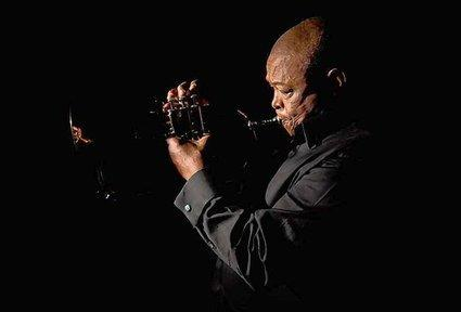 Hugh Masekela performs at Wesleyan Friday.