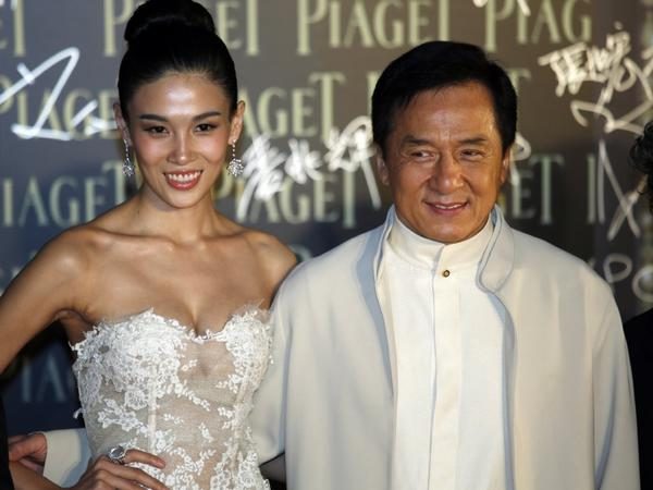 Jackie Chan, with actress Zhang Lanxin, won for best action choreography at the 32nd Hong Kong Film Awards on Saturday evening.