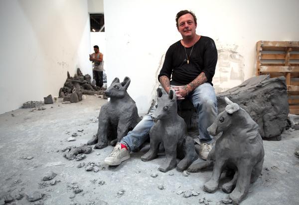 Artist Urs Fischer.
