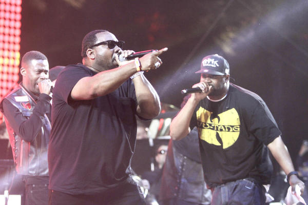 The Wu-Tang Clan performs during the 2013 Coachella Valley Music and Arts Festival in Indio.