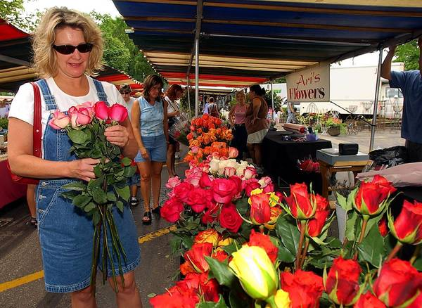 Wheaton's French Market offers fresh flowers, produce and many other items.