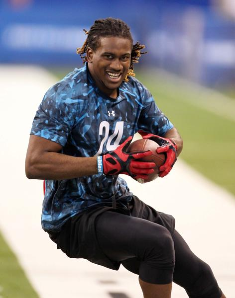 Tennessee Volunteers wide receiver Cordarrelle Patterson makes a catch during the NFL combine.