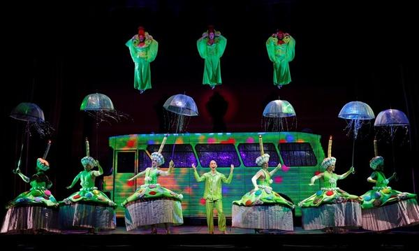 """Green-frosted cupcake costumes are part of """"Priscilla Queen of the Desert."""""""