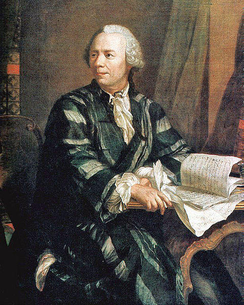 A portrait of mathematician Leonhard Euler by the painter Jakob Emanuel Handmann.