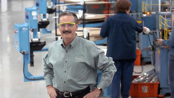 Gordon Hunter, CEO of Littelfuse, is photographed in the automative section of the company's plant in 2006.