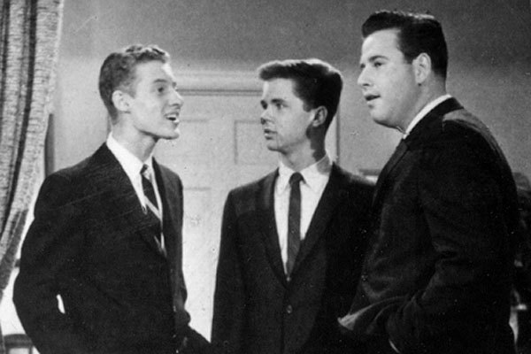 "Ken Osmond, left, Tony Dow and Frank Bank starred in TV's ""Leave It To Beaver."""