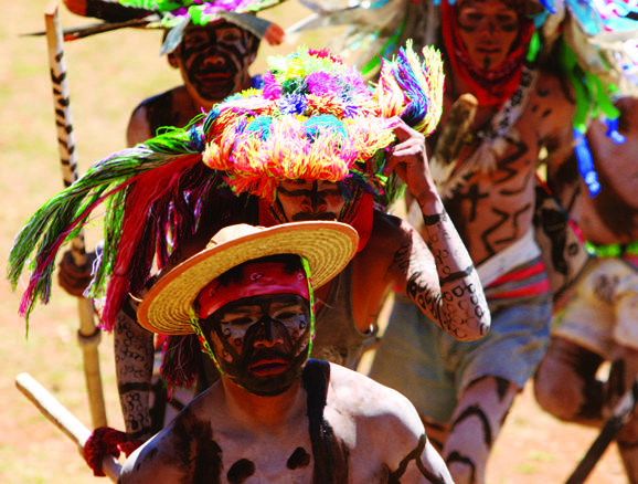 Cora Indians wear body paint during a celebration in the Sierra Del Nayar region of Riviera Nayarit, where several new resorts are to open.
