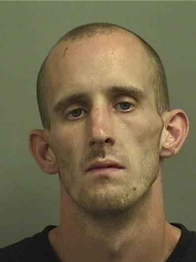 Palm Beach County Deputies say Patrick Gale Carter, 30, with no formal address, was found sleeping on a couch in the fetal position, still wearing ankle shackles and a handcuff around one wrist behind a Lake Worth home.