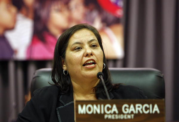 "Monica Garcia, the president of the Los Angeles Unified school board, wants to put a stop to suspending students for the relatively minor infraction of ""willful defiance."""