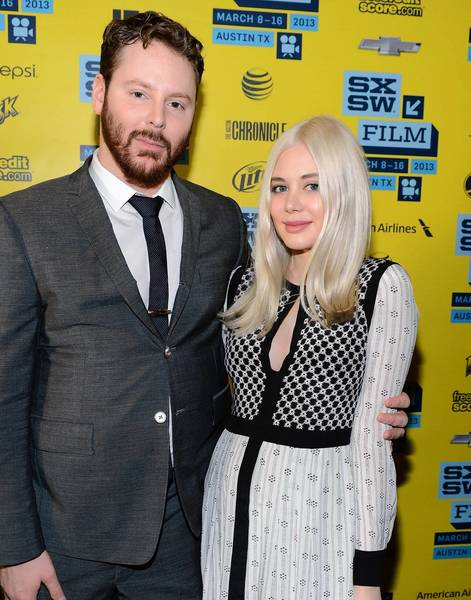 Tech entrepreneur Sean Parker with his fiancee, singer-songwriter Alexandra Lenas.