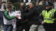BOSTON -- At least three people are dead and 100 injured after two bomb blasts shook the site of the Boston Marathon finish line Monday afternoon, with a third, possibly related incident an hour and a half later, reported at Boston's John F. Kennedy Library.
