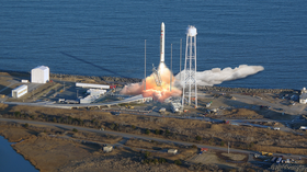 Antares rocket launch visible this afternoon
