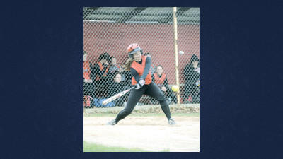 Abby Stahl connects for an RBI single for Meyersdale in the early innings against visiting North Star on Monday.