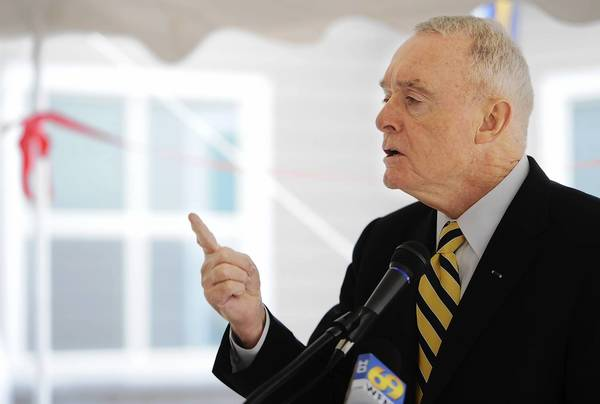 Four-Star General Barry McCaffrey (Ret), a former U.S. drug czar and Iraq and Latin American commander, speaks at the grand opening of the Lehigh County's drug and alcohol treatment center, which is being run by CRC Health Group/White Deer Run.