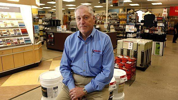 True Value CEO Lyle Heidemann in a prototype True Value store in Mt. Prospect in 2010.