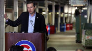 In a dim corridor Monday along the third-base side of Wrigley Field, about 30 feet away from a restroom still equipped with troughs and a wall holding pay phones, Cubs Chairman Tom Ricketts outlined the tentative deal struck to renovate the rickety 99-year-old ballpark.