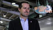 <strong>We know what a happy Tom Ricketts looks like:</strong> Day One of family ownership.