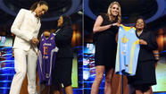 Baylor's Brittney Griner, Delaware's Elena Delle Donne and Notre Dame's Skylar Diggins were the top three picks in Monday night's WNBA draft.