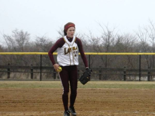 Loyola pitcher Jamie Kiefer has been outstanding both pitching and batting this year