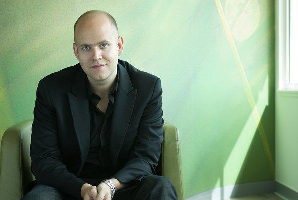 Spotify Chief Executive Daniel Ek. The Swedish-English firm announced that it will expand its services into eight new markets.