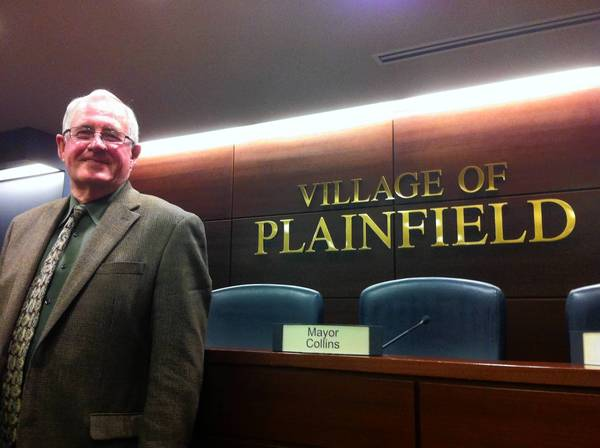 After securing a second term as Plainfield's mayor earlier this month, Michael Collins said he looks forward to the challenge of helping the small town grow.