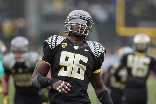 Oregon Ducks defensive end Dion Jordan figures to be one of the first players taken in the NFL draft.