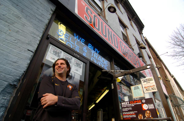 Bryan Burkert, owner of Sound Garden, is photographed outside the shop in 2006.