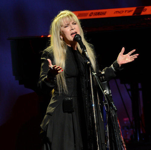 Singer Stevie Nicks will be joined by Fleetwood Mac members Mick Fleetwood, John McVie and Lindsey Buckingham April 20.