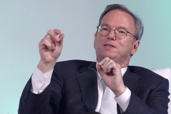 Google Glass has already become an everyday part of life on Google's Mountain View, Calif., campus, Eric Schmidt, the company's executive chairman, said Tuesday. Above, Schmidt at a conference last month in New Delhi.