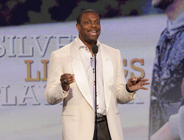 Chris Tucker onstage at the Independent Spirit Awards in Santa Monica. Tucker will host the BET Awards on June 30 from the Nokia Theatre in Los Angeles.