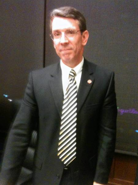 Arlington Heights Mayor-Elect Thomas Hayes the day of the Boston Marathon bombings. Hayes competed int he marathon.