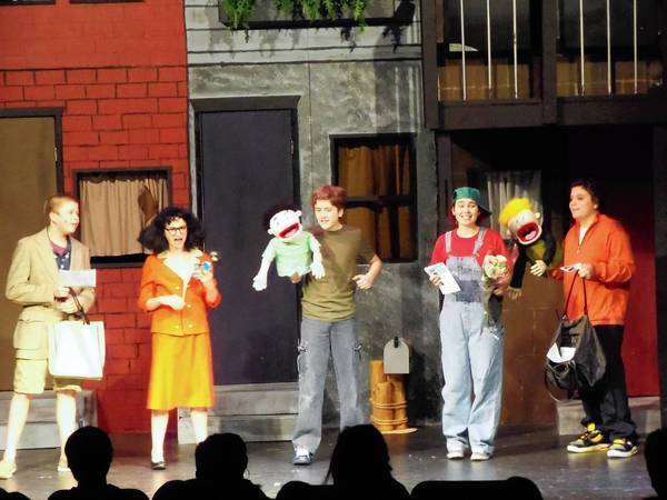"Randall Kraujalis, Olivia Brothers, Ryan Adams, Spencer Brady and Harrison Hernandez will perform in a modified version of ""Avenue Q"" in Naperville."
