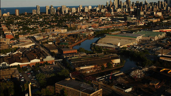 The A. Finkl & Sons site on the North Side is shown in a 2008 aerial photo.