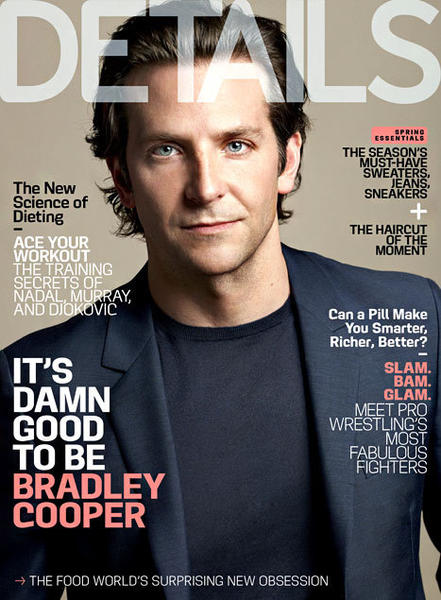 Details magazine cover: Bradley Cooper explains why he lives with his mom