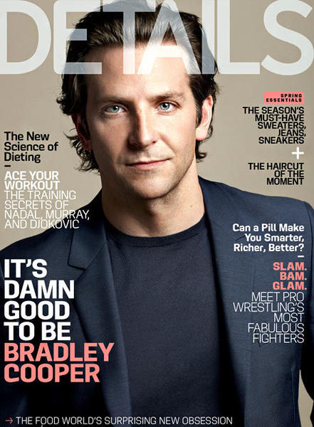 Bradley Cooper, who covers Details magazine's May issue, reveals that he lives with his mom, though the arrangement has its complications.
