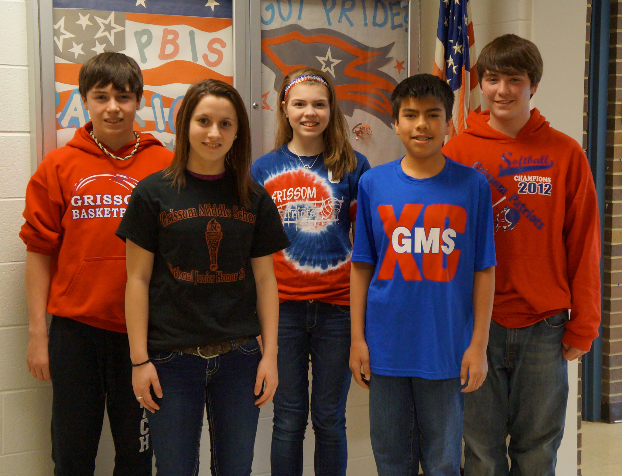 Five Grissom Middle School Students Honored At All