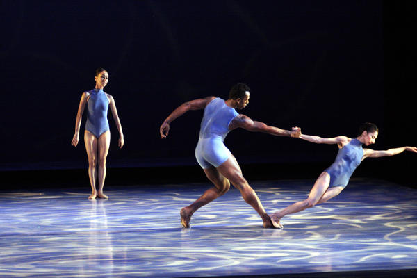 Members of Raiford Rogers Modern Ballet -- Regina Park Suh, left, Bobby Briscoe and Erica de la O -- in a 2012 performance.
