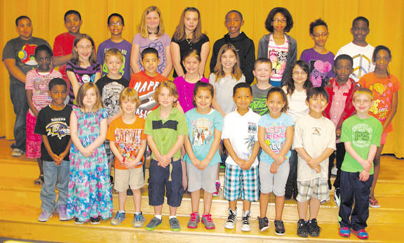 These students were named students of the month for April by their classroom teachers at Salem Avenue Elementary School. Row one, from left, Sincere Johnson, Sierra Nave, Solomon Stagno, Ben Mielcarek, Mia Tiznado, Alex Thomas, Shianne Hill, Leland Hernandez and Cameron Cole. Row two, Dandio Coulibaly, Evie Shanholtz, Zachary Startzman, Amore Domer, Kierstin Bauserman, Jaci Smith, Jayren Lescalleet, Chloe Brown, JoElle Johnson and Niera Roberts. Row three, Malaki Palmer, Xavier Randolph, Marcus Davis, Kylie Grimsley, Jasmine Ragland, Cameron Jones, Josie Baker, Mallia Epps and Emi Erekosima. Absent from the photo are Gifara Alsahouri, Markell Napier and Alexandra Rankin.