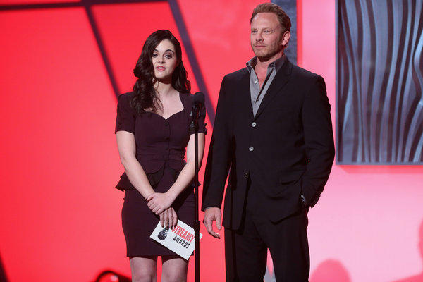 Ian Ziering with Vanessa Marano at the 3rd Annual Streamy Awards in Hollywood in February.