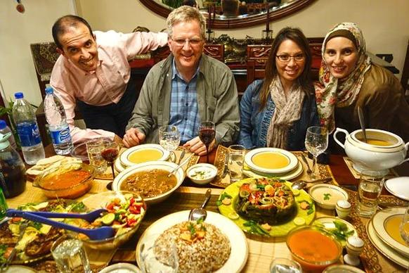 Anytime you have a chance to enjoy a good home-cooked meal with new friends ¿ especially in a developing country ¿ jump on it. While Egyptian apartment flats are caked in soot on the outside, inside they can be filled with love and delightful hospitality¿not to mention great food.