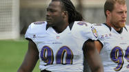 The Ravens intend to take a long look at defensive end Pernell McPhee at rush outside linebacker behind former Pro Bowl outside linebacker Terrell Suggs.