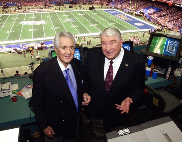 Pat Summerall (left) and John Madden were teamed in the NFL announcing booth for 22 seasons.
