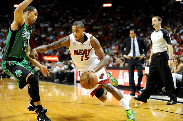 Miami's Mario Chalmers is more content in his role of taking a back seat to the Heat's Big 3.