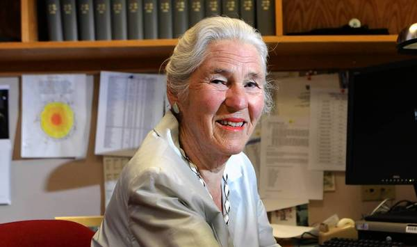 Dr. Janet Rowley was honored Tuesday for her scientific discovery in her Hyde Park home on the genetics behind leukemia.